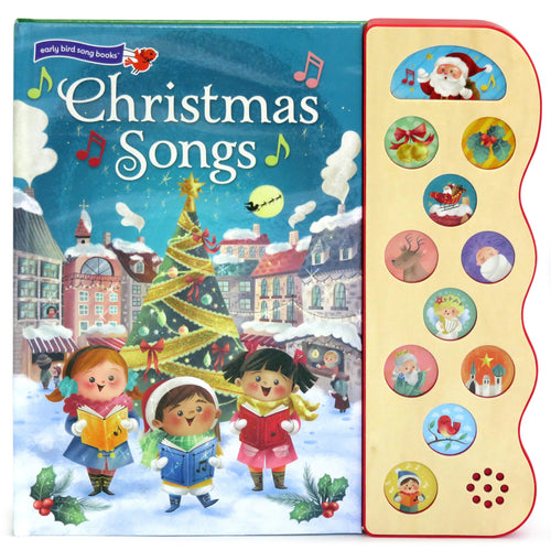 Christmas Songs Musical Button Children's Board Book