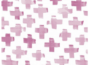 Watercolor By Hand Orchid Cross Cotton Fabric