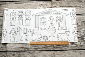 Nativity Cut & Color Sticker Roll Set
