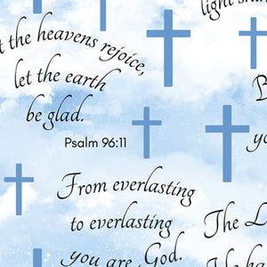 Faithful Psalms Clouds Anti-Pill Fleece Fabric