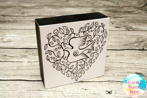 Dove Heart Coloring Wall Art