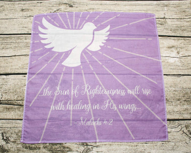 Dove Sun of Righteousness Prayer Cloth Cotton Mini Fabric Panel
