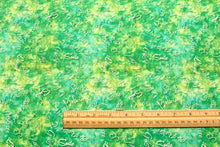 Dream Big Lime Green Cotton Fabric