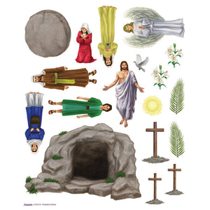 Religious Easter Stickers 5 Sheets Set