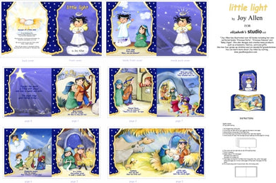 Little Light Christmas Nativity Story Cotton Fabric Book Panel