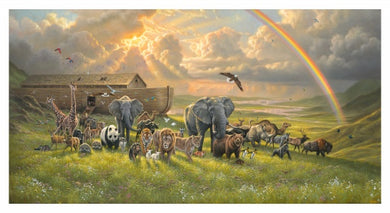 Noah's Ark Sunlit Sky Cotton Fabric Panel
