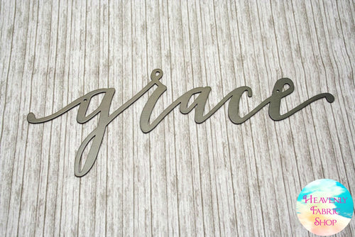 Metal Grace Script Sign