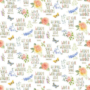 Garden Inspirations & Flowers Cotton Fabric