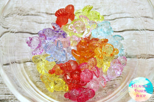 Acrylic Multi Color Angel Beads 24 ct