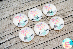 Alleluia Floral Glass Dome Cabochons 6ct