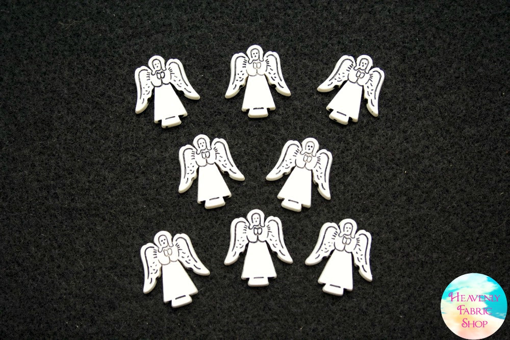Angel Flat Back Charms Set