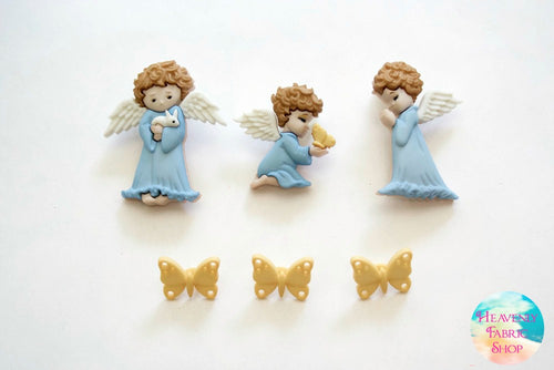 Cherished Angel Button Set