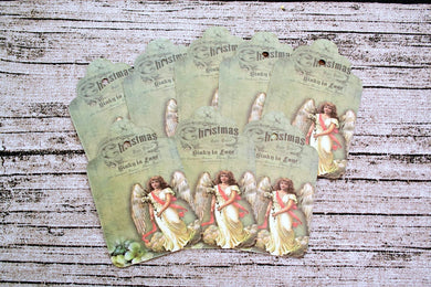 Vintage Christmas Angel Gift Tags 25 piece set