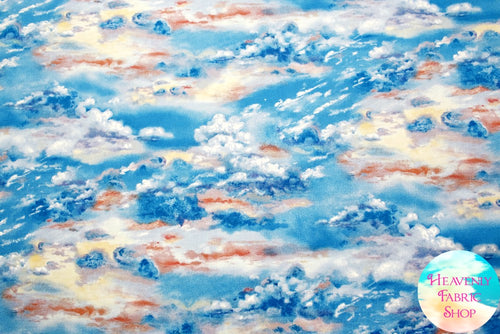 Landscape Medley Multi Sky Cloud Cotton Fabric