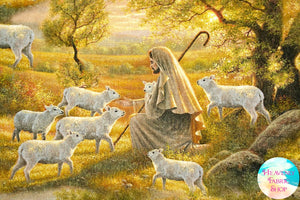 Shepherd Come Unto Me Cotton Fabric