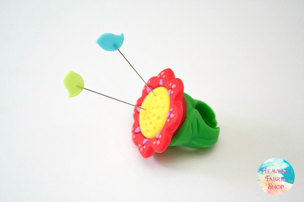Silicone Flower Pincushion Ring