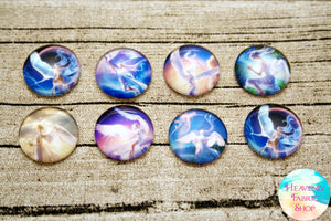 Ethereal Angel Glass Dome Cabochons 8ct