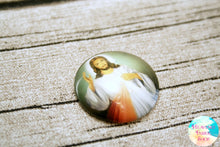 Divine Mercy Jesus Glass Dome Cabochons 6ct