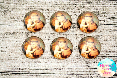 Saint Anthony Glass Dome Cabochons 6ct