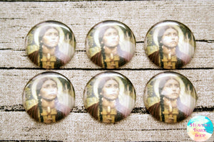 Saint Kateri Tekakwitha Glass Dome Cabochons 6ct