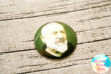 Saint Padre Pio Glass Dome Cabochons 6ct