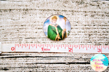 Saint Patrick Glass Dome Cabochons 6ct
