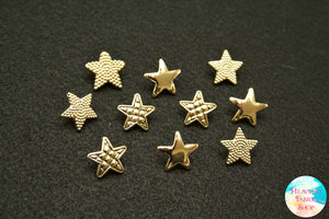 Metallic Gold Star Buttons Set