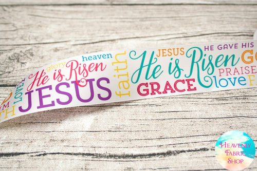 Easter He Is Risen 1 1/2inch Satin Ribbon