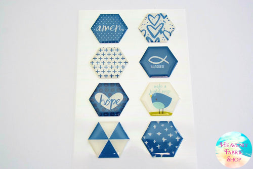 Blessed Hope Dimensional Epoxy Stickers
