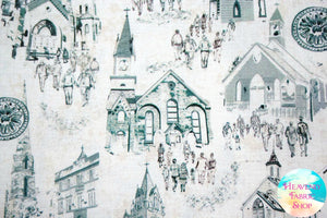 In The Beginning Believe Churches Cotton Fabric