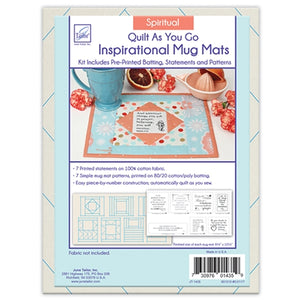 Quilt As You Go Spiritual Mug Mat Batting + Pattern Kit