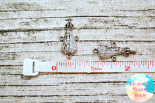 Antique Silver Metal Our Lady of Fatima Connector Charms 20 ct