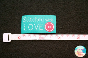 Stitched With Love Fabric Craft and Sewing Iron On Labels