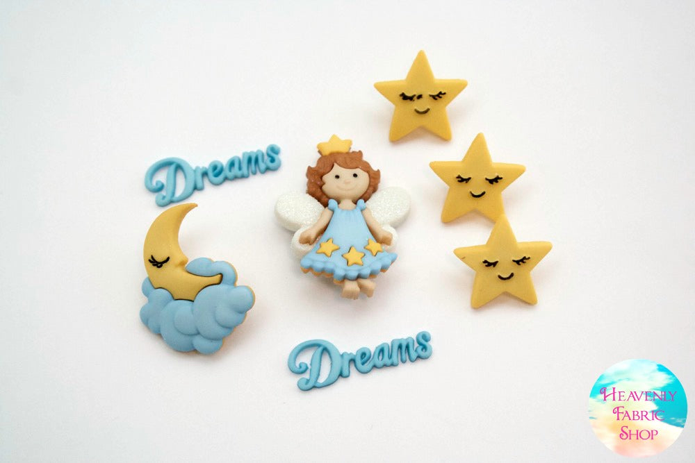 Sweet Dreams Angel Button Set
