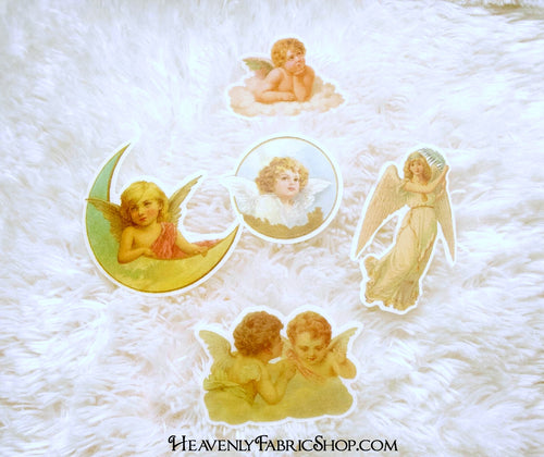 Vintage Victorian Angel Washi Stickers 27 piece set