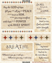 Women In Faith Tapestry Scripture Cotton Fabric Panel