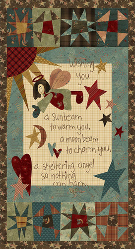 Irish Blessing Angel Cotton Fabric Panel