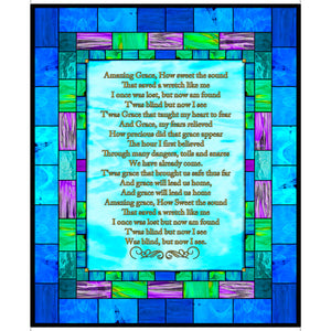How Sweet The Sound Amazing Grace Cotton Fabric Panel