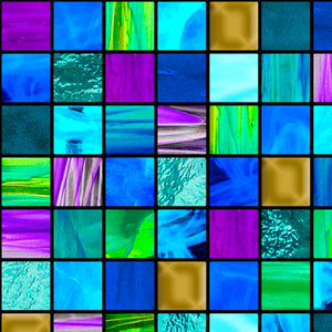 How Sweet The Sound Stained Glass Mosaic Cotton Fabric