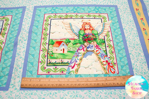 Angel Pillow Cotton Fabric Panel