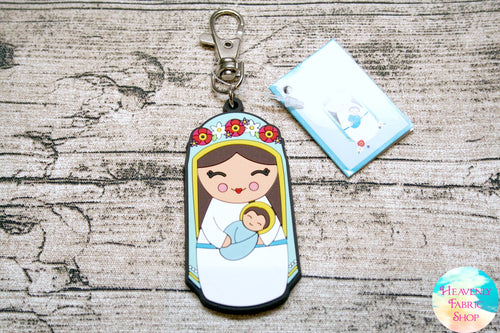 Shining Light Blessed Mother Virgin Mary Jumbo Rubber Charm