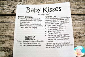 Baby Kisses Quilt Pattern & Fabric Panel Kit