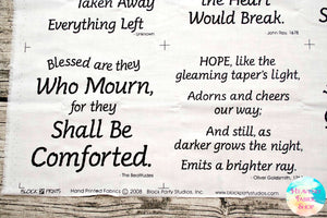 Survivor's Prayers Fabric Panel