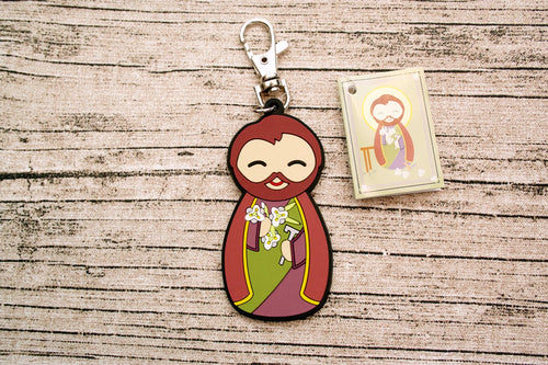 Shining Light Saint Joseph Jumbo Rubber Charm