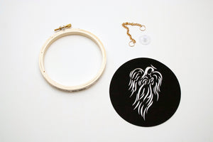 Laser Cut Angel Fusible Fabric Hoop Kit