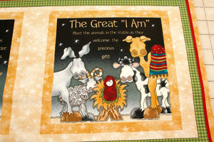 Little Readers Great I Am Story Soft Book Cotton Fabric Panel
