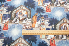 Blessed Birth Nativity Cotton Fabric