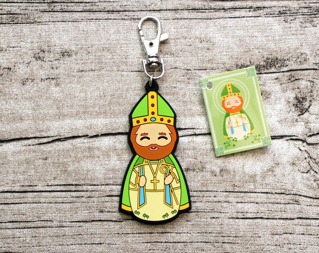 Shining Light Saint Patrick Jumbo Rubber Charm