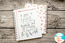 I Am A Little Pencil Mother Teresa Quote Notebook Journal