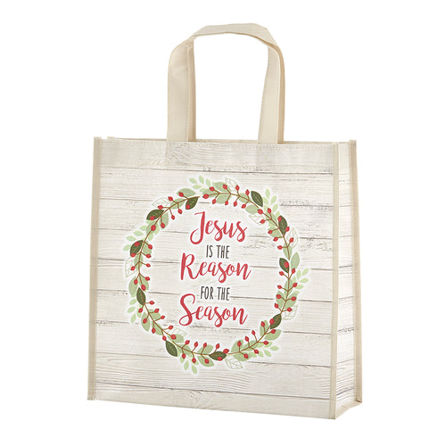 Jesus Is The Reason For The Season Laminated Tote Bag